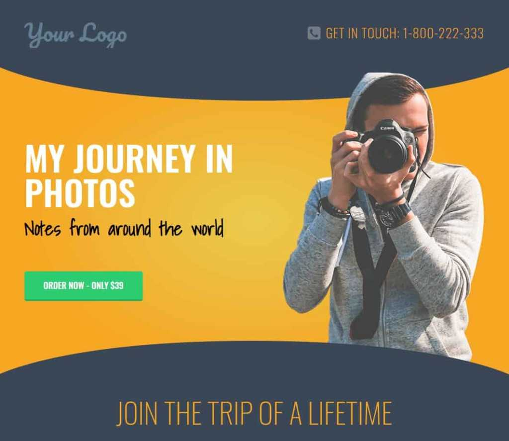 Fotograaf website in WordPress door OneTap.online in 1 uur online
