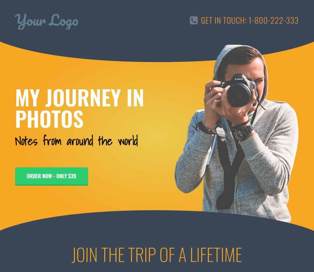 Fotograaf website in WordPress door OneTap.online in 1 uur online