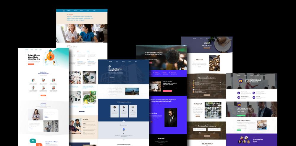 OneTap WordPress design voorbeelden