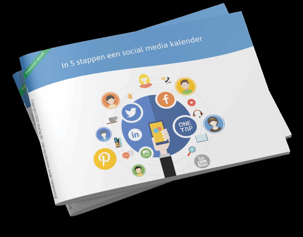 OneTap ebook in 5 stappen social media kalender